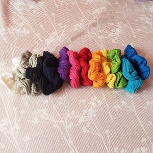 12 Colorful Hair Scrunchies!